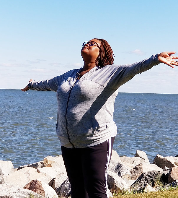 Coach Renee at James River during her journey