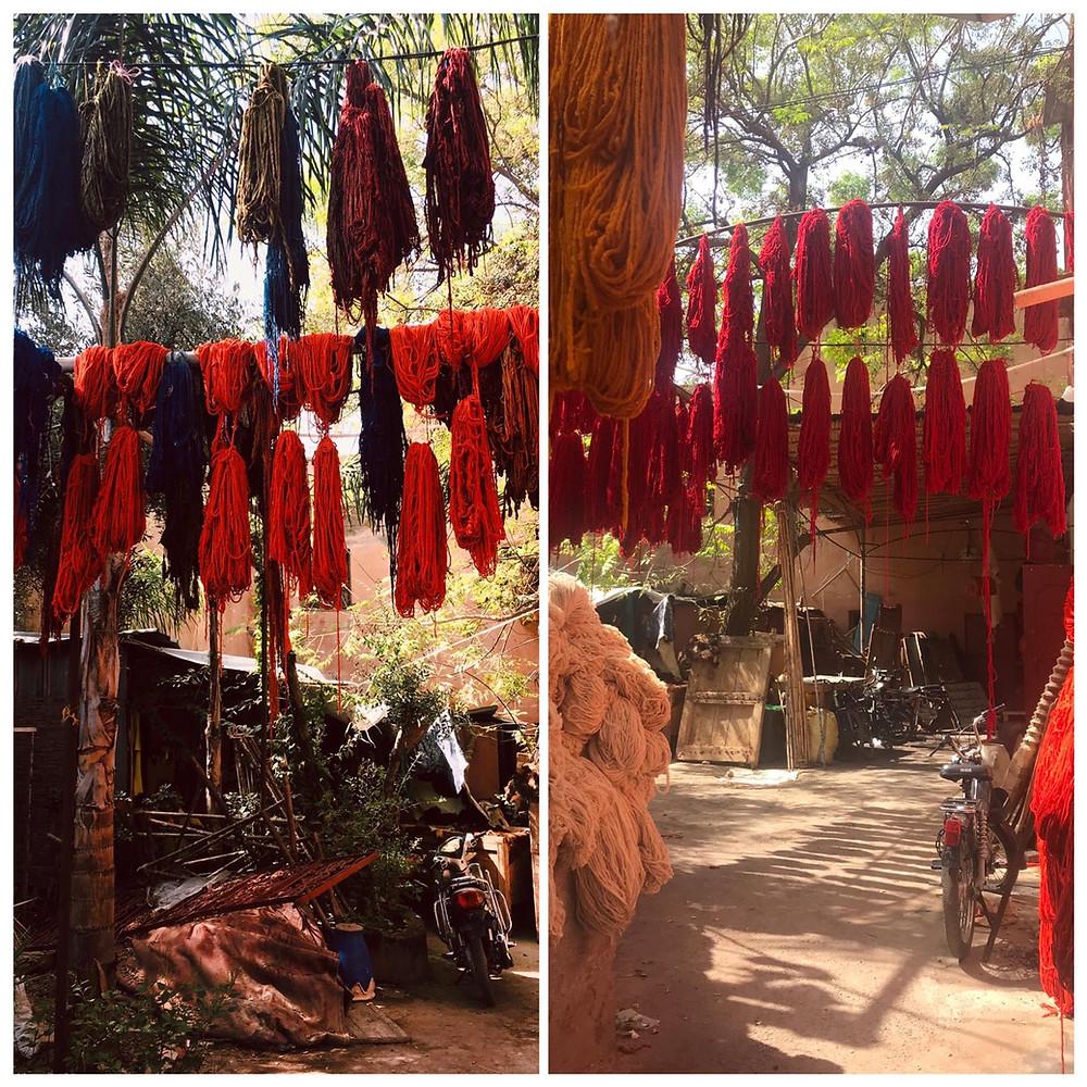 Souk dei tintori Marrakech