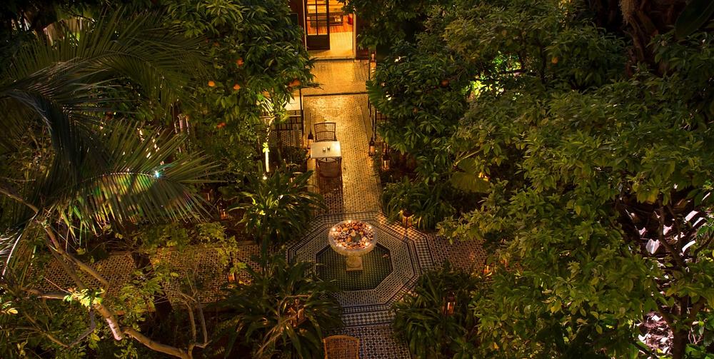 Giardino esterno de Le Table du Palais