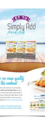 Print Ad for ET TU Salad Kits
