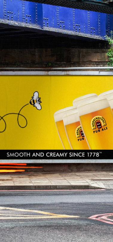 Billboard for Bodingtons Ale