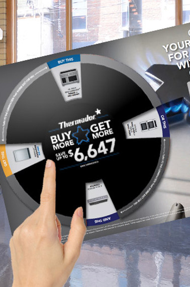 In-store material for Thermador Appliances