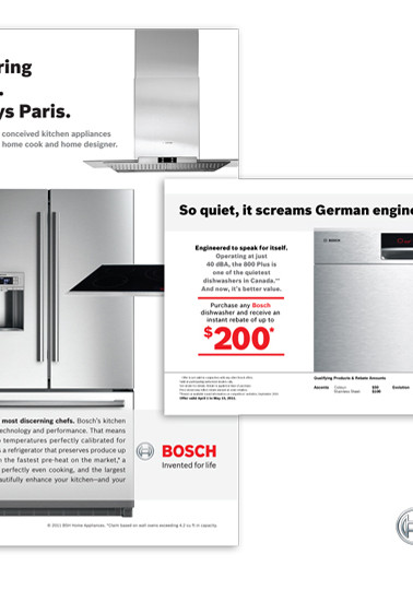 Print Ads for Bosch Home Appliances