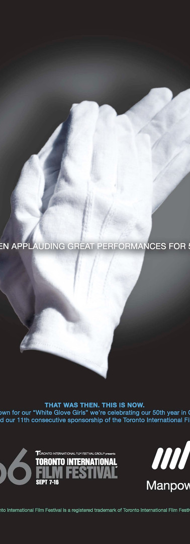 Manpower sponsored Print Ad for TIFF