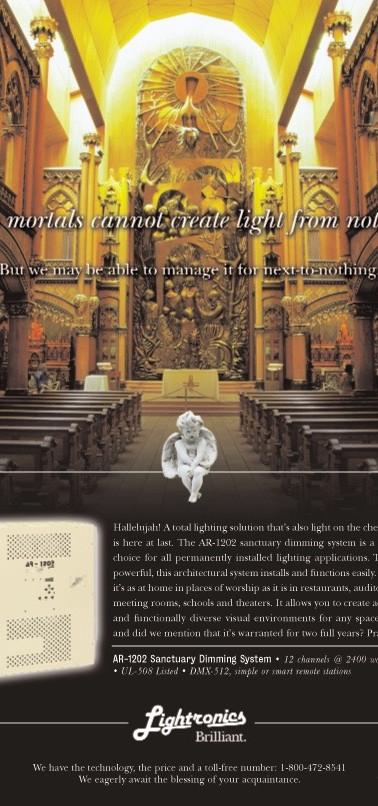 Print Ad for Lightronics