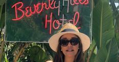 Carolina Brasil visitou o ícônico The Bererly Hills Hotel famoso em receber estrelas do cinema e da