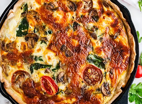 WOW Recipe: Mushroom + Cheese + Kale + Sun Dried Tomato Frittata