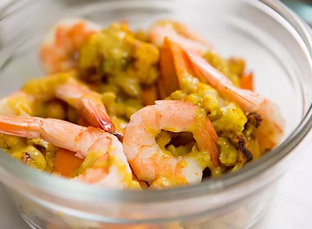 WOW Recipe: Thai Yellow Curry with Shrimp, Cauliflower and Chickpeas
