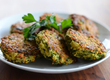 WOW Recipe: Cheesy Spinach and Roasted Bell Pepper Cakes