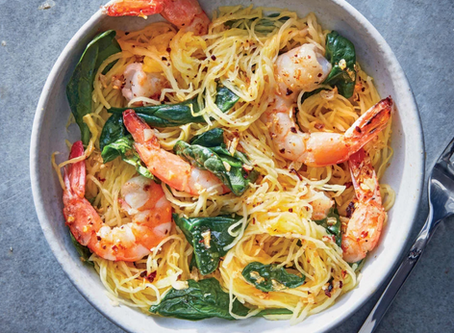 WOW Recipe: Italian Shrimp Scampi with Spaghetti Squash