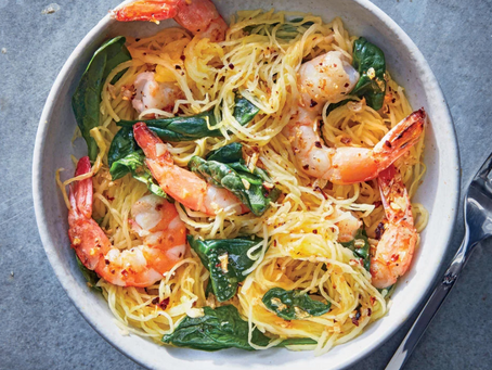 WOW Recipe: Italian Shrimp Scampi with Spaghetti Squash