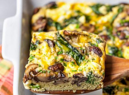 WOW Recipe: Shiitake Mushroom, Sausage, Spinach Egg Casserole