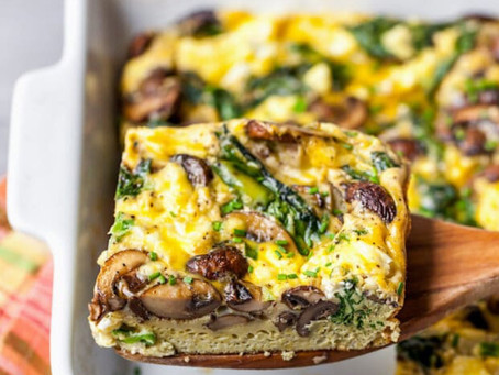 WOW Recipe: Shiitake Mushroom, Sausage, Spinach Egg Casserole
