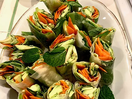 WOW Recipe: Vietnamese Fresh Rolls with Almond Butter Dipping Sauce