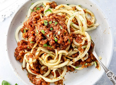WOW Recipe: Bolognese with Zoodles