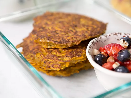 WOW Recipe: Kabocha Squash Pancakes with Organic Berry Compote