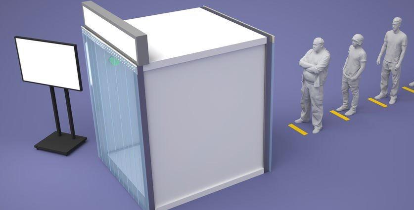 Cabina de desinfección Opción 1
