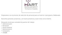 Llamado laboral para HART Hotel en José Ignacio