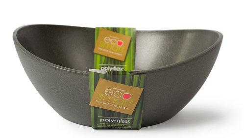 EcoSmart PolyGlass Serving Bowl Black 7qt