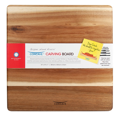 Gripperwood Acacia Concave Cutting Board
