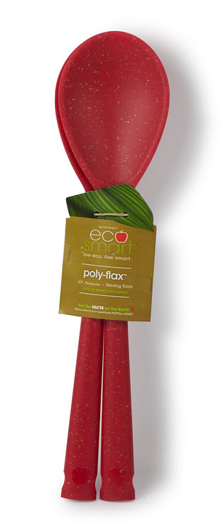 EcoSmart PolyFlax Serving Spoons, Set of 2, Red