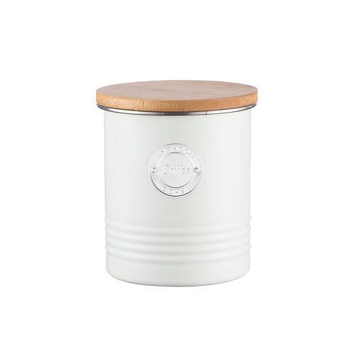 Living Coffee Canister Cream