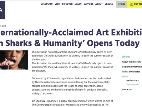 Internationally-Acclaimed Art Exhibition 'On Sharks & Humanity' Opens Today