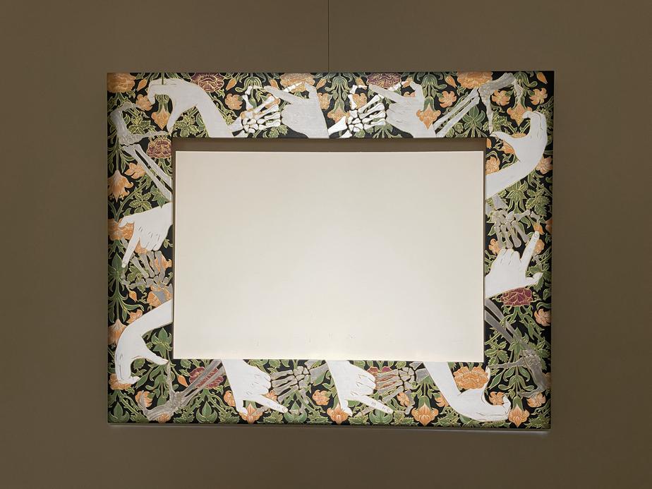 Frame Painting, Vanitas with Flowers