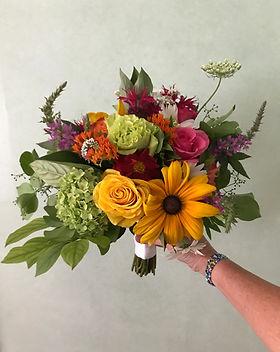 july wildflower bride