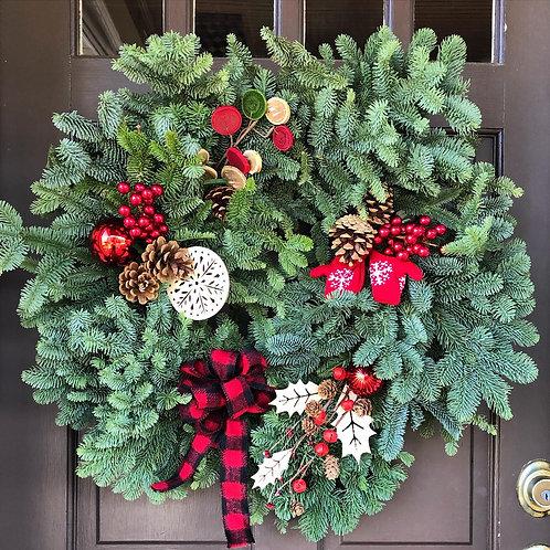 large holiday wreath