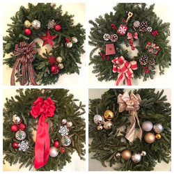 Busy weekend doing custom wreaths for cl
