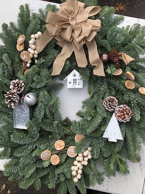 holiday wreath virtual DIY