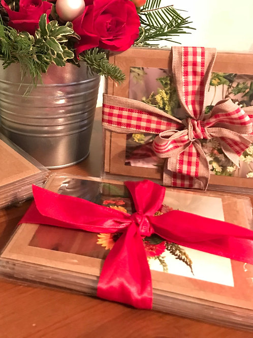 holiday flower photo cards