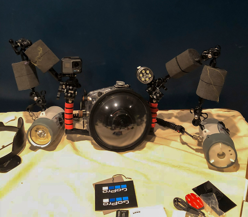 This is the underwater photography rig for Matt McGee