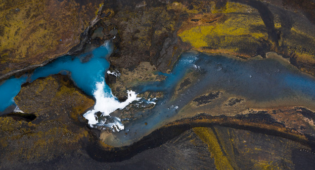 Aerial View Iceland River