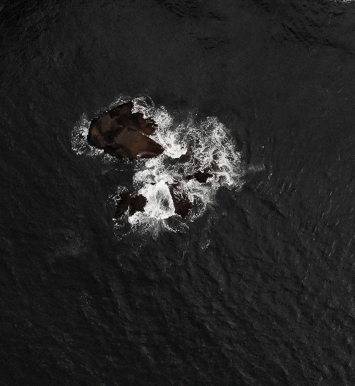 Drone shot of a small island