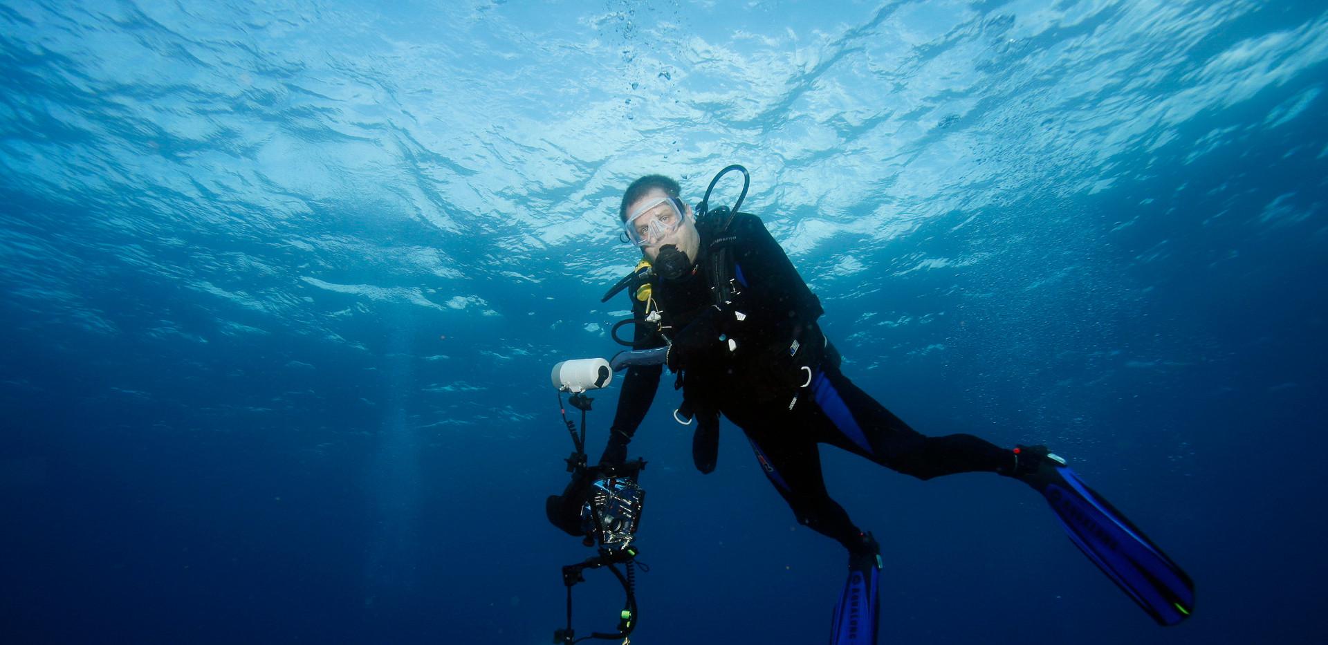Matt McGee at Cocos Island