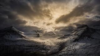 Mountain peaks in the Faroe Islands
