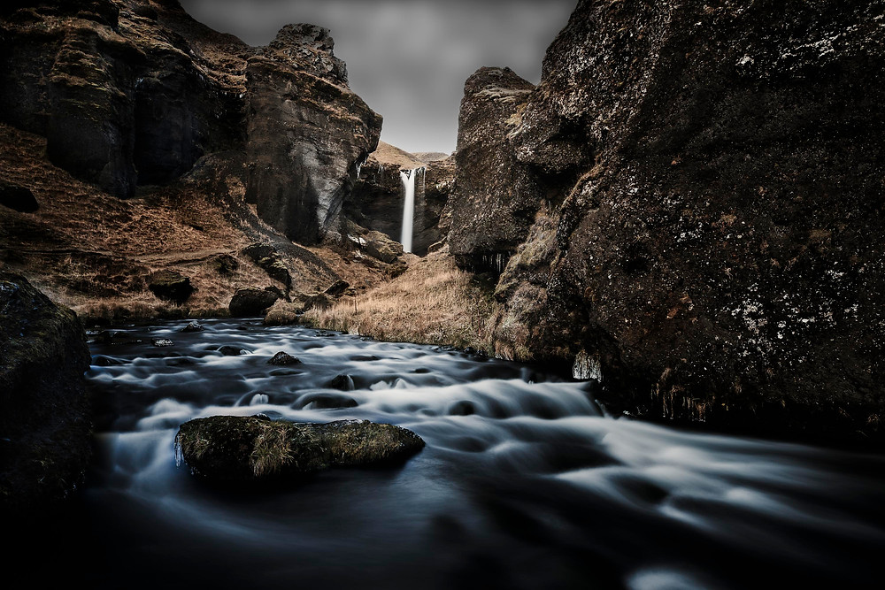 Kvernufoss waterfall in Iceland photographed by Matt McGee