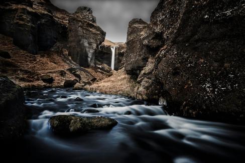Kvernufoss waterfall Iceland