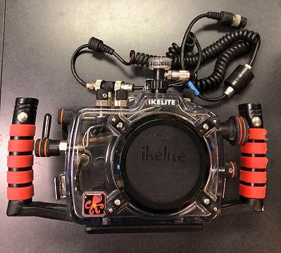Ikelite underwater camera housing used b