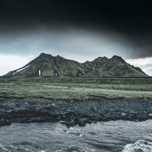 Mountain deep in the highlands of Iceland