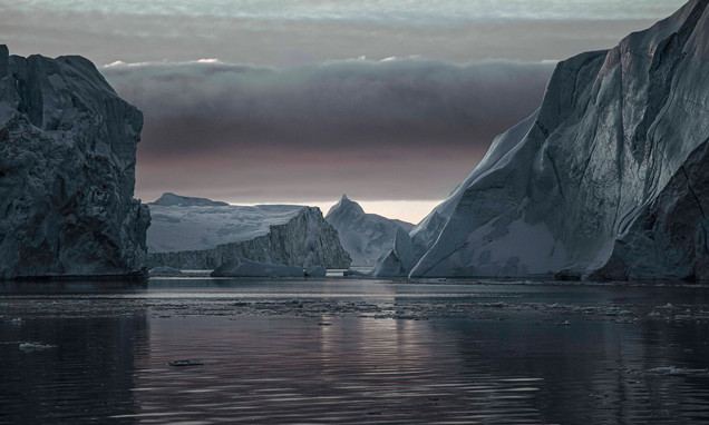 Disko Bay icebergs photographed by Matt