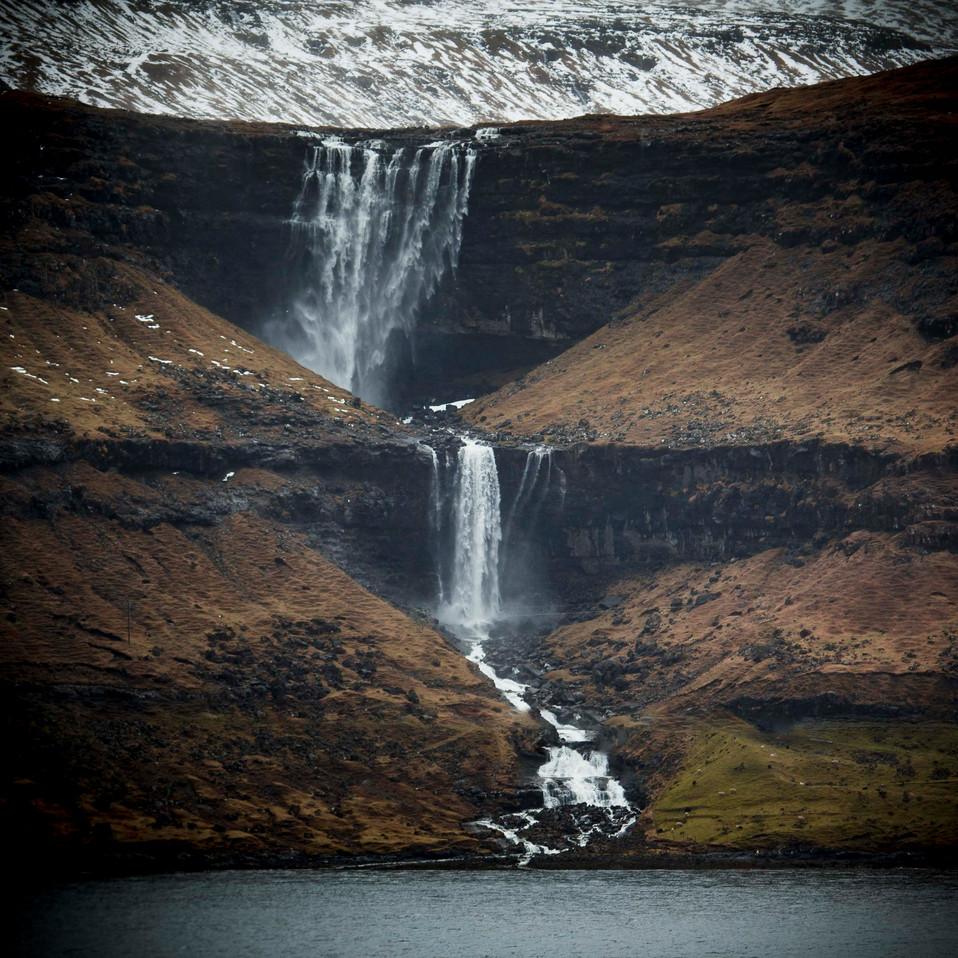 Fossurin í Fossá waterfall in the Faroe Islands