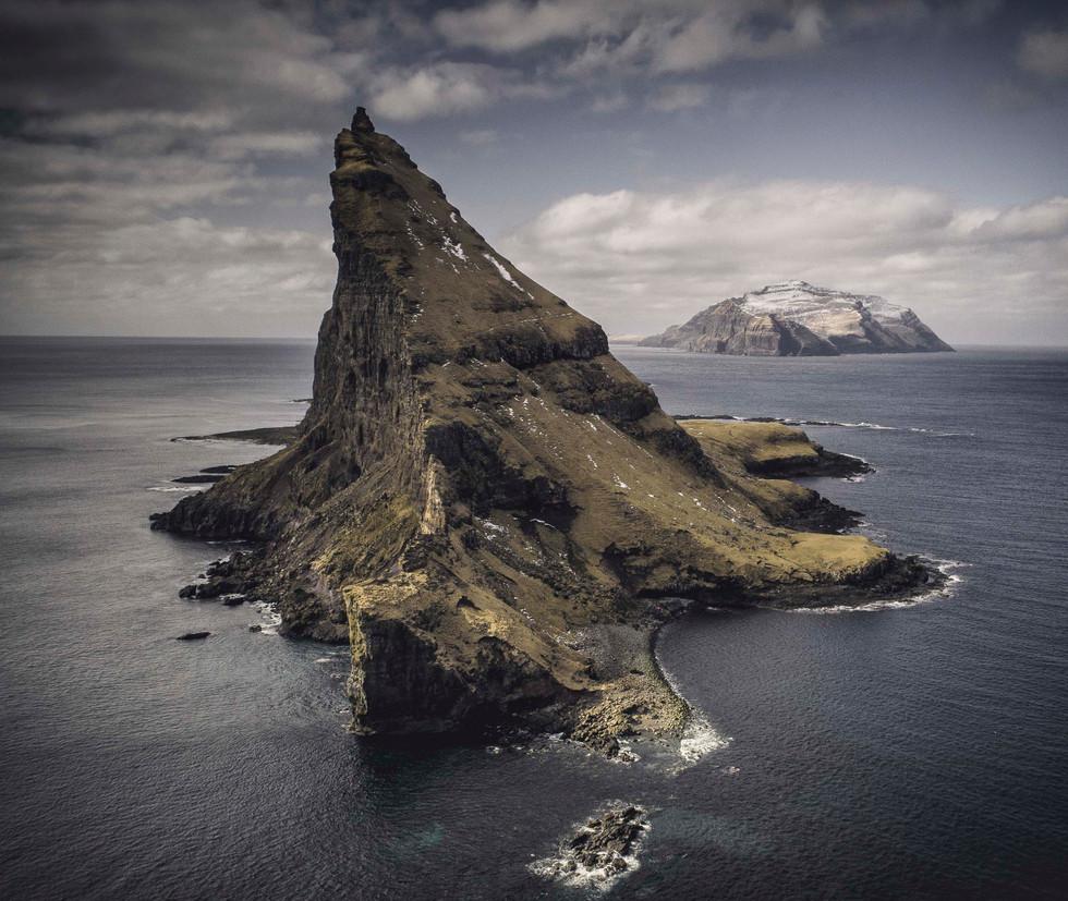 Tindholmur island in the Faroe Islands