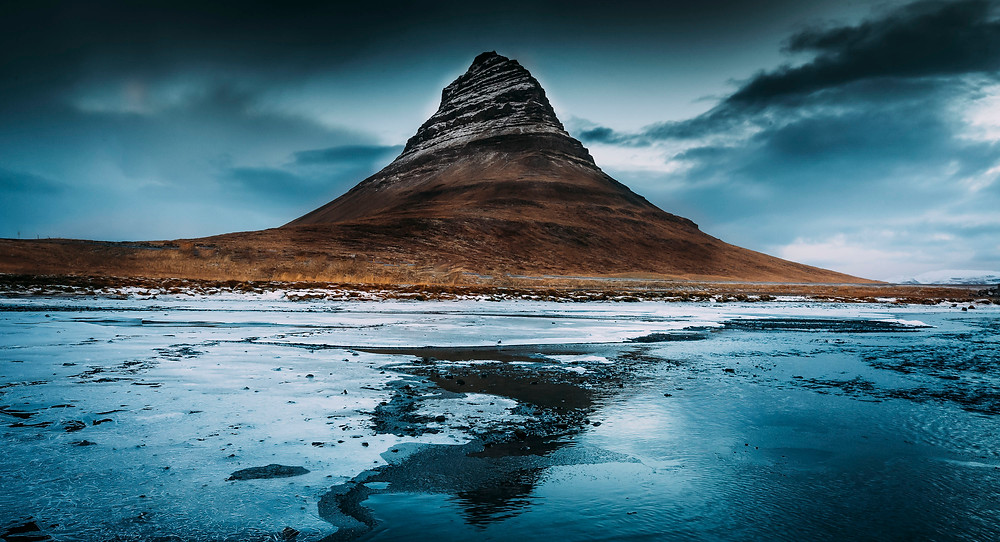 This is Kirkjufell mountain on the Snaefellsness peninsula in Iceland. Photo by landscape photographer Matt McGee