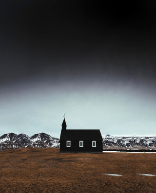 Black church on the Snaefellsnes peninsula in Iceland photographed by landscape photographer Matt McGee