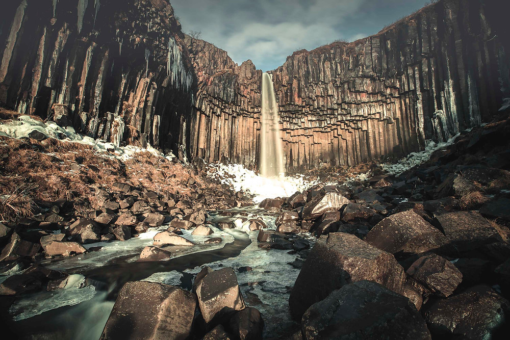 Svartifoss waterfall in Iceland photographed by Matt McGee