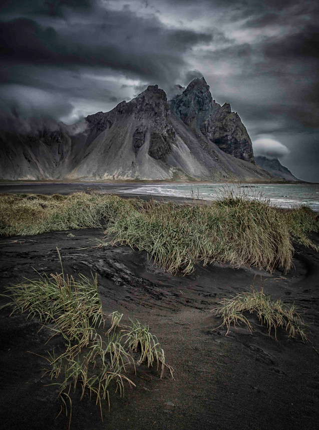 Misty mountain in Iceland