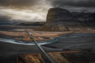 Mountains along the Ring Road in Iceland